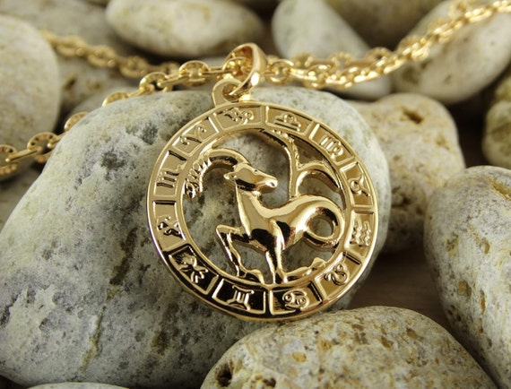 Capricorn necklace capricorn pendant capricorn charm capricorn like this item aloadofball Choice Image