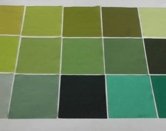 Boundless Solids Green 5 inch Precut Fabric Squares