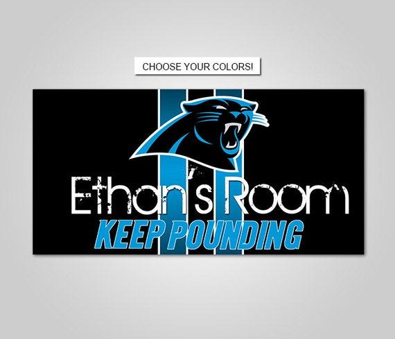 Bedroom Door Handle Broken Youth Bedroom Sets For Boys Bedroom Wall Decals B Q Bedroom Furniture: DOOR SIGN Carolina Panthers Football Team Kids Bedroom
