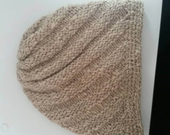 Hand knit beanie from loro piana cashmere