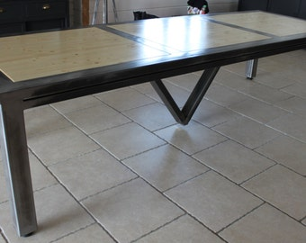 Items similar to turnbuckle table dining room or kitchen for Dining room tables etsy