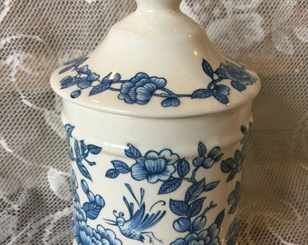 Vintage James Kent Old Foley Staffordshire Lidded Sugar Jar