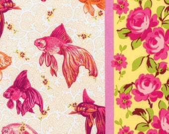 Pink Age of Aquarius Cotton Fabric