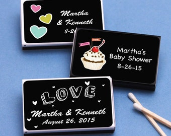50 pcs Sweet Nothings Personalized Matchboxes (MIC-FJM118468)