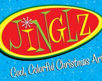 JINGLZ Cool, Colorful Christmas Art!