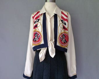 20% off using coupon!Vintage silk button down vest blouse/shirt/top size S/M/L