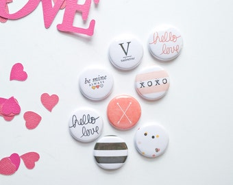 Hello Love - Valentines Day - Flair Button