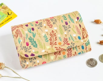Floral wallet, Small wallet, Fabric wallet for women, Wallet women, Cute wallet, Funny picture, Vegan wallet, Colorful wallet, For her