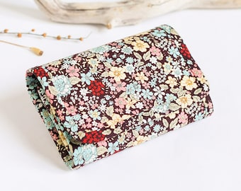 wallet women small womens wallet cute wallet coin purse pattern small coin purse change purse fabric wallet vegan wallet floral flowers boho