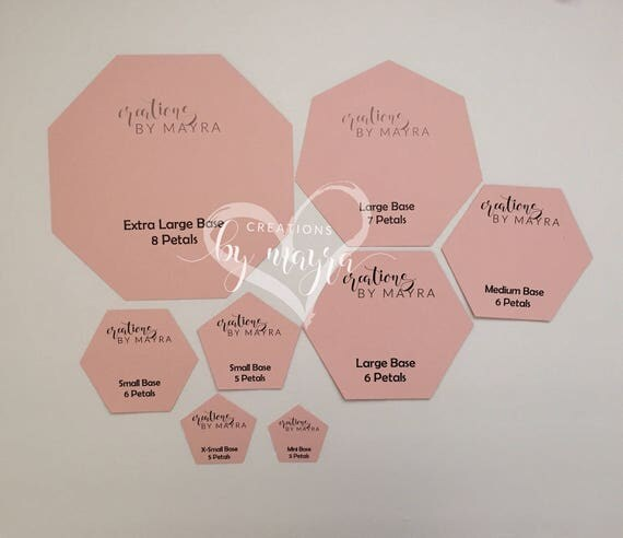 hardcopy polygon bases for paper flowers