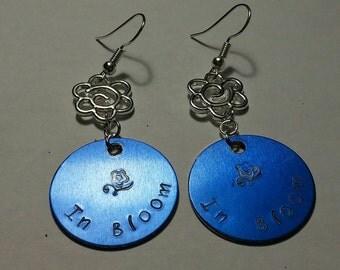 In Bloom blue Nirvana earrings