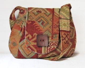 Handbag, Purse, Tribal Fabric Handbag,Obiandoli Handbags, Women's Purse, Southwestern