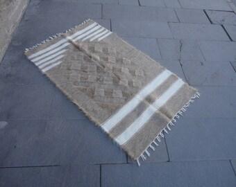 Turkish small goat hair rug,prayer rug, 50 x 30 navajo style rug,prayer mat,cottage decor small blanket,Ziegenhaar Teppiche,capelli di capra