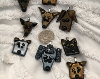 Custom Fetching Fido's - A fused glass creation of your favorite furry friend / dog / puppy