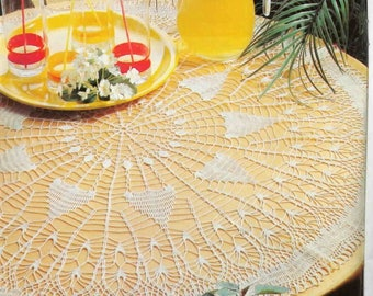 210. Vintage crochet  tablecloth UK pattern in pdf
