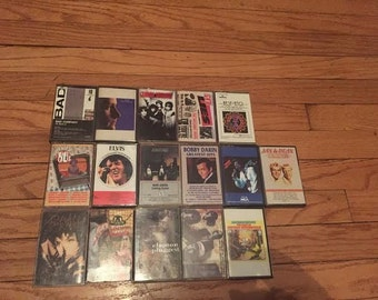 Lot of 16 Cassette Tapes 50's, 60's, 70's, 80's, 90's Vintage Music