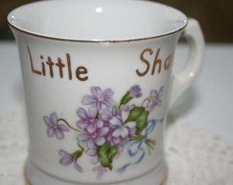 Vintage Shaving Mug - For A Little Shaver - Rosetti Chicago - Made in Occupied Japan