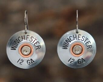 Winchester 12 gauge Shotgun Shell Earring