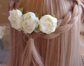 Beautiful bridal flower comb,flower girl hair comb.wedding hair Accessories , Bridal hair comb,Wedding accessory