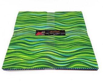 "Laurel Burch Twilight Layer Cake with Metallic Accents 42 10"" squares cotton precut quilting fabric material TSQ0123"