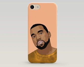 Kanye West IPhone Case, Kanye Iphone Case, Kanye West Merch, Kanye Art, Iphone Case, Case Iphone, Popculture, Gift teenager, Hip Hop Gift