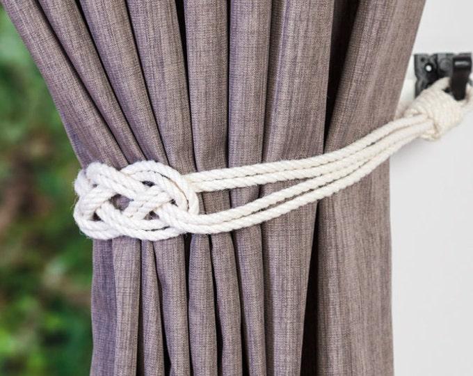 Cotton Rope Tiebacks - Andrea Cook Interiors