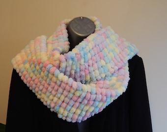 Candy Pom Pom Scarf -Accessory/Gift