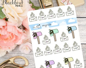 Happy Mail - Hand Drawn Planner Stickers [BG0003]