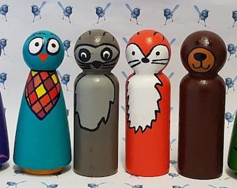 Wooden Peg Dolls - Animals