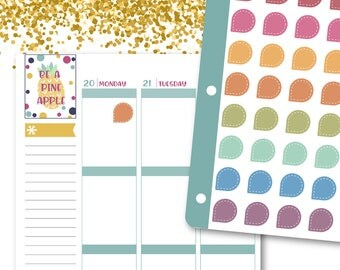 Large Tear Drop Markers Planner Stickers