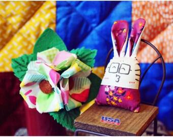 bunny in kimonos keychain, Bunny doll, Stuffed bunny, Easter bunny, Toy