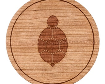 "Turtle Circle Magnet, Round Magnet, 2"" Refrigerator Magnet"