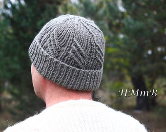 PDF File - KNITTING PATTERN - men boy  hat (Toddler, Child, and Adult sizes) - download