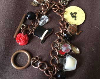 Vintage Sweet Brass Charm Bracelet