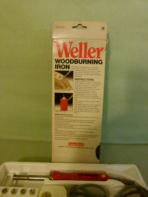 Weller Woodburning Iron Ideal Beginners Electrical Wood