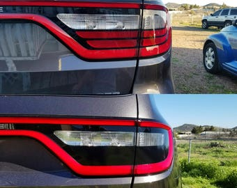 2014+ Dodge Durango Tail Light Reflector Blackout Vinyl