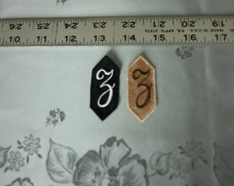 EMBROIDERED MONOGRAMMED INITIAL – Z