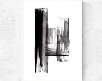 Abstract Black and white wall art, 18x24 print, abstract artwork, digital download art, modern abstract art, printable wall print poster art