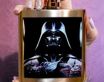 Darth Vader FLASK Stainless Steel 6 oz Custom flask Hip flask Liquor flask Accessory, custom flask, men hip flask