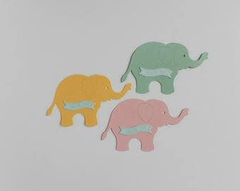 Welcome Little Peanut Favor Tags (set of 12) / Elephant Favor Tags / Thank You Tags / Baby Shower Tags