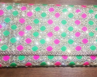 Indian inspired Kundan evening clutch/purse