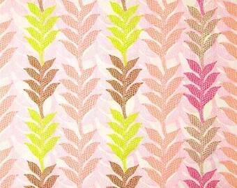 "Art Gallery Fabrics   Naturella     ""Lamina Pink""     Remnant"