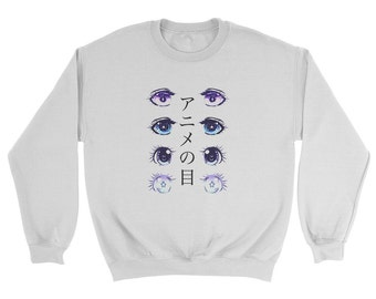 Kawaii Anime Eyes Sweatshirt