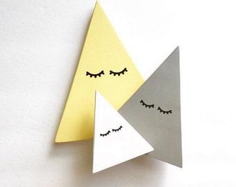 Sleepy Eyed Triangle set/Customize your colors