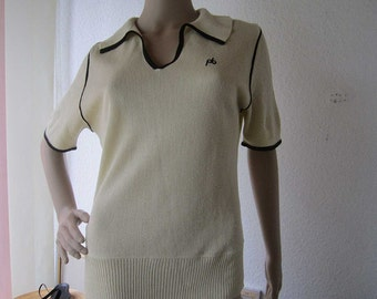 Vintage 60s knit top sweater worsted rockabilly Hepcat S / M