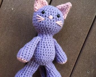 Stuffed Cat, Crochet Kitty, Newborn Photo Prop, Kitty Plush, Toy Cat, Baby Shower Gift, Crochet Kitty Cat, Stuffed Toy, Amigurumi, Nursery
