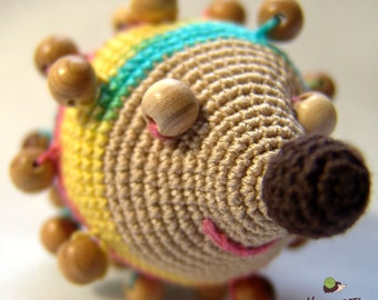 Developing tactile toy - rattle Hedgehog