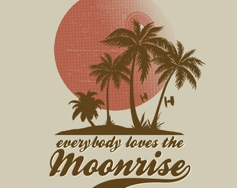 Everybody Loves a Moonrise - Scarif Travel and Tourism LADIES FIT T-Shirt -  1970's Movie Sci-Fi Parody Clothing