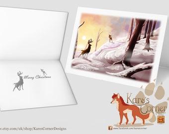 Great Prince - Bambi inspired Christmas Card