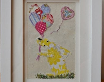 Applique Birthday Hare